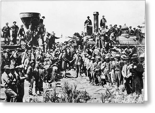 Westward Greeting Cards - Railroading Greeting Card by Granger