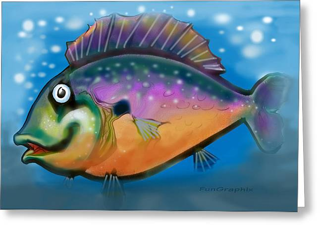 Rainbow Fish Greeting Card by Kevin Middleton