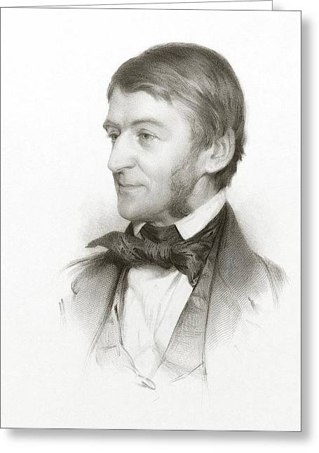 Waldo Greeting Cards - Ralph Waldo Emerson 1803 To 1882 Greeting Card by Ken Welsh