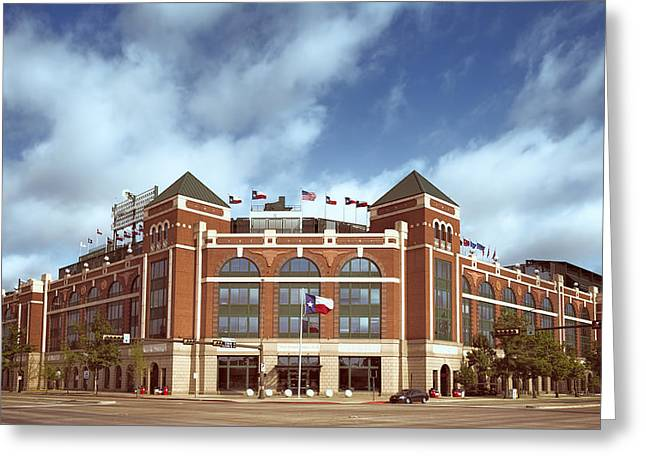 Baseball Stadiums Greeting Cards - Rangers Ballpark in Arlington Greeting Card by Joan Carroll