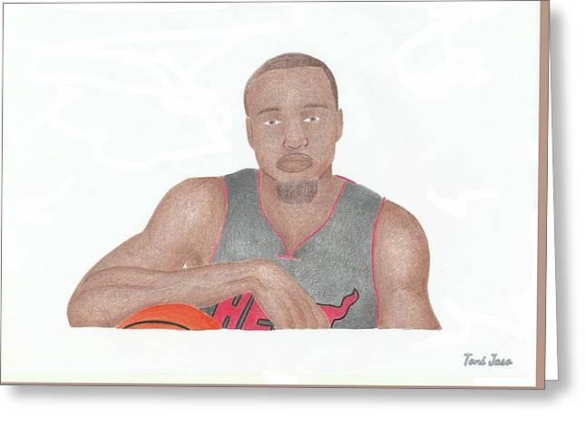 Slam Drawings Greeting Cards - Rashard Lewis  Greeting Card by Toni Jaso