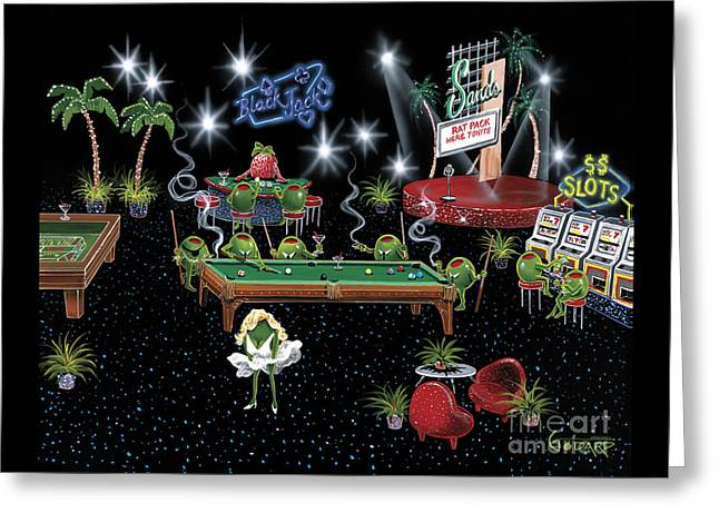 Olives Greeting Cards - Rat Pack Greeting Card by Michael Godard