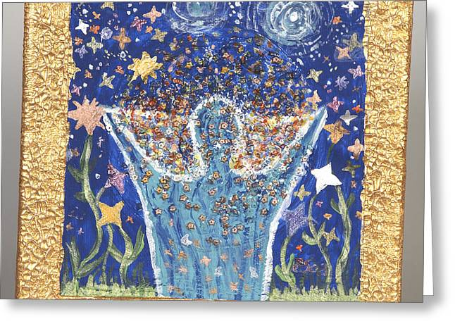 Reach Reliefs Greeting Cards - Reach for the stars Greeting Card by Heidi Sieber