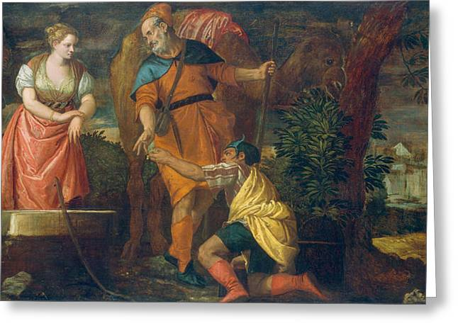 Rebecca At The Well Greeting Card by Paolo Veronese