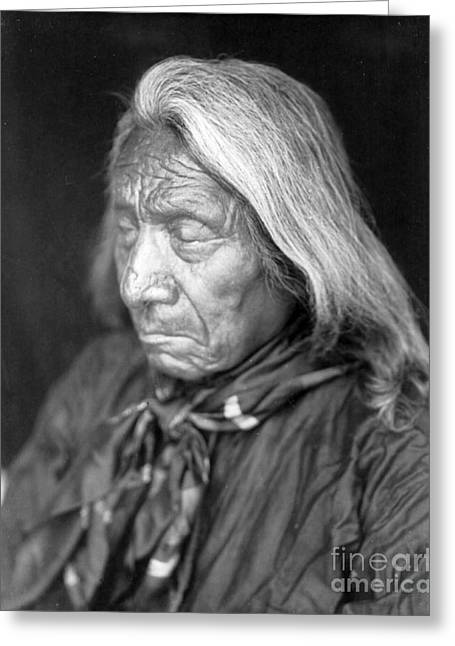 Red Cloud, Oglala Lakota Indian Chief Greeting Card by Science Source