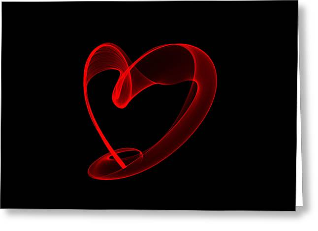 Abstract Expression Greeting Cards - Red heart Greeting Card by Igor Sinitsyn