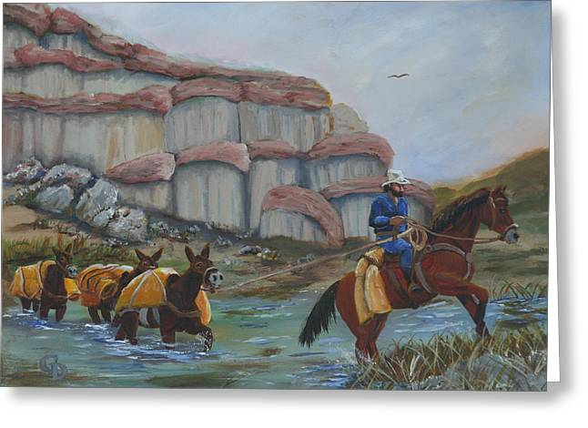 Red Rock Crossing Paintings Greeting Cards - Red Rock Crossing Greeting Card by Gail Daley