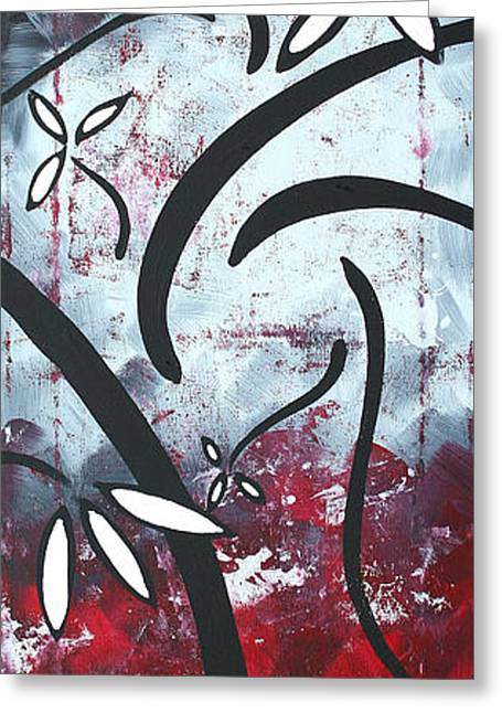 D�cor Greeting Cards - Red Roses 3 by MADART Greeting Card by Megan Duncanson