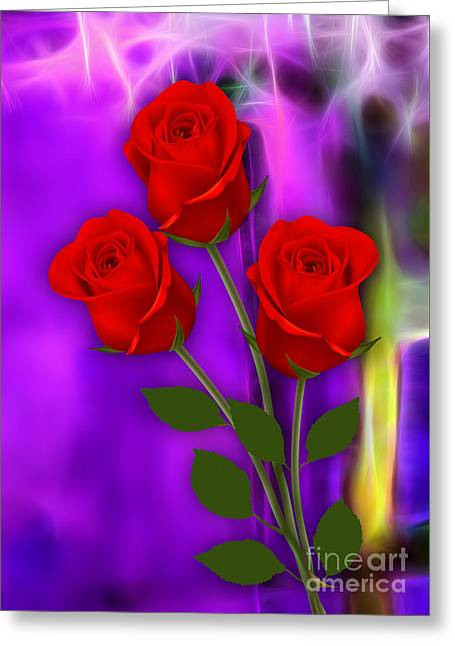 Valentines Day Greeting Cards - Red Roses Collection Greeting Card by Marvin Blaine