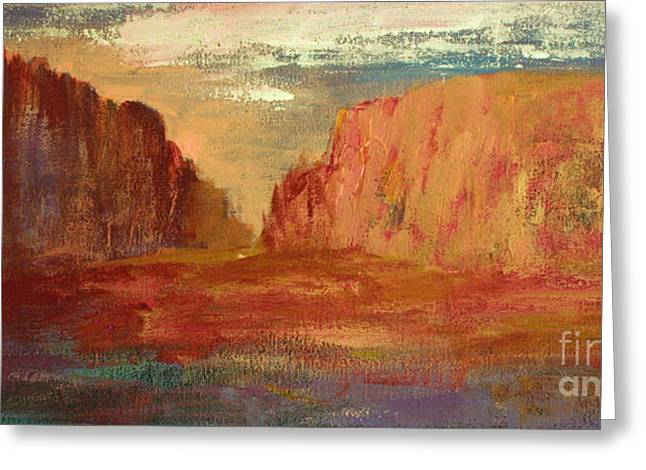Red Dirt Greeting Cards - Red Sedona Greeting Card by Julie Lueders
