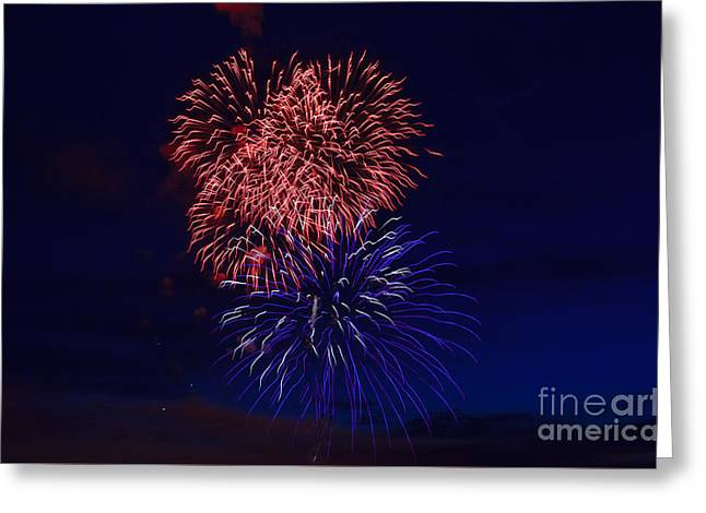 Haybales Greeting Cards - Red White And Blue Greeting Card by Robert Bales