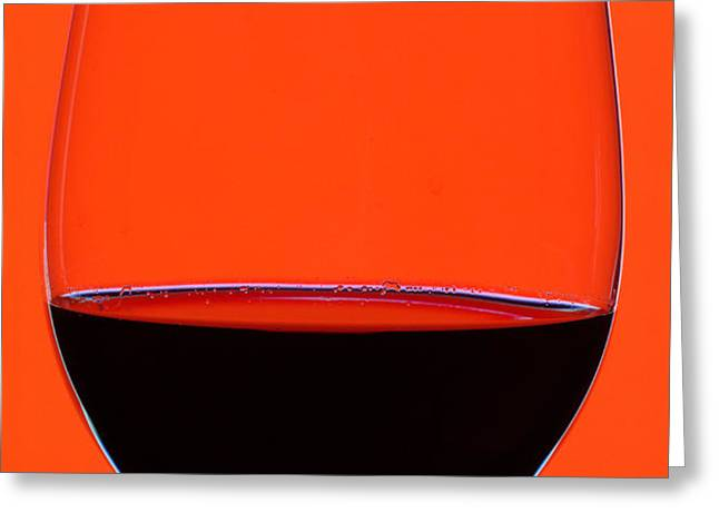 Red Wine Glass Greeting Card by Frank Tschakert