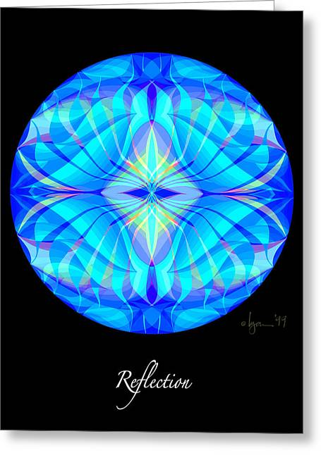 Survivor Art Paintings Greeting Cards - Reflection Greeting Card by Angela Treat Lyon