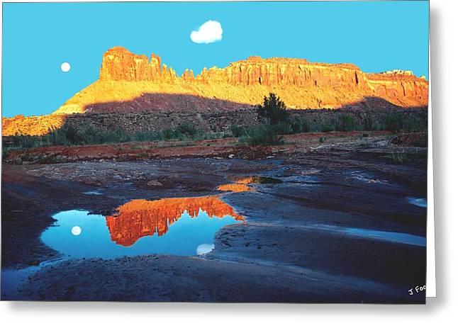 Reflective Intentions Greeting Card by John Foote