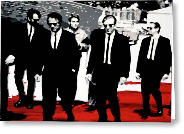 Reservoir Dogs Greeting Card by Luis Ludzska