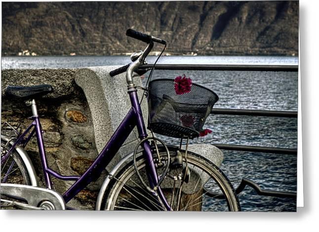 retro bike Greeting Card by Joana Kruse