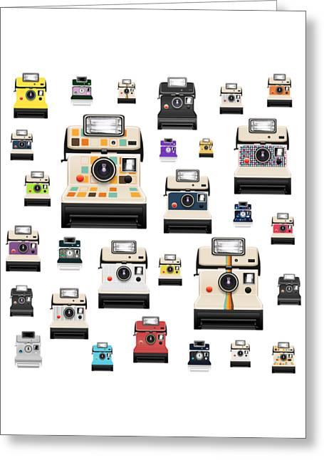 Toy Camera Greeting Cards - Retro Camera Greeting Card by Setsiri Silapasuwanchai