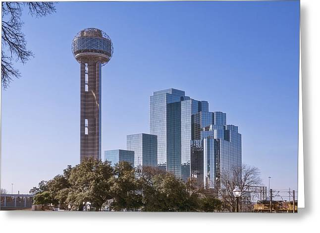 Reunion Tower Dallas II Greeting Card by Joan Carroll