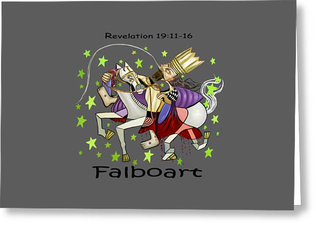 Revelation 19-11-16 Greeting Card by Anthony Falbo