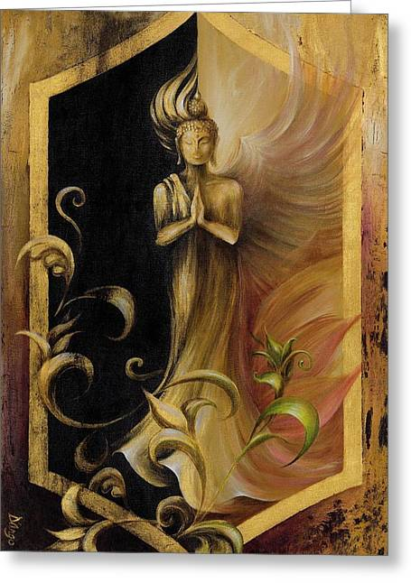 Quan Yin Greeting Cards - Revelation and Enlightenment Greeting Card by Dina Dargo