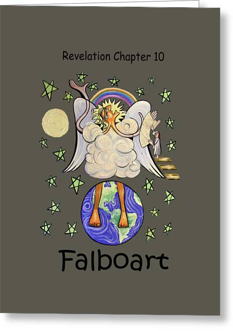 Christian Art Prints. Christian Canvas Greeting Cards - Revelation Chapter 10 Greeting Card by Anthony Falbo