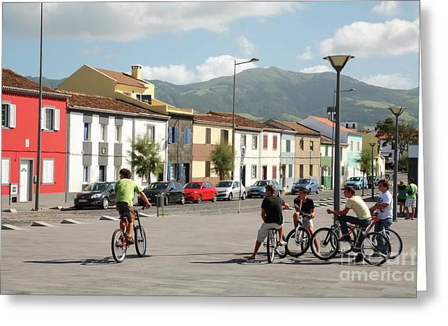 Teen Town Greeting Cards - Ribeira Grande - Azores Greeting Card by Gaspar Avila