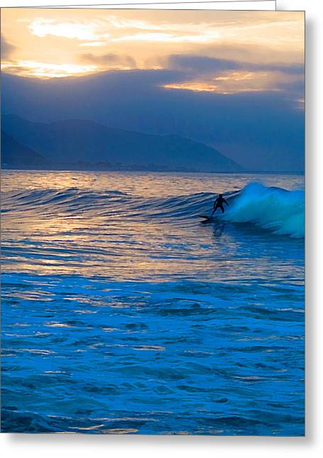 Rincon Greeting Cards - Ride at Daybreak Greeting Card by Ron Regalado