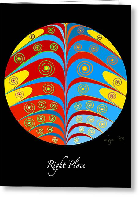 Survivor Paintings Greeting Cards - Right Place Greeting Card by Angela Treat Lyon
