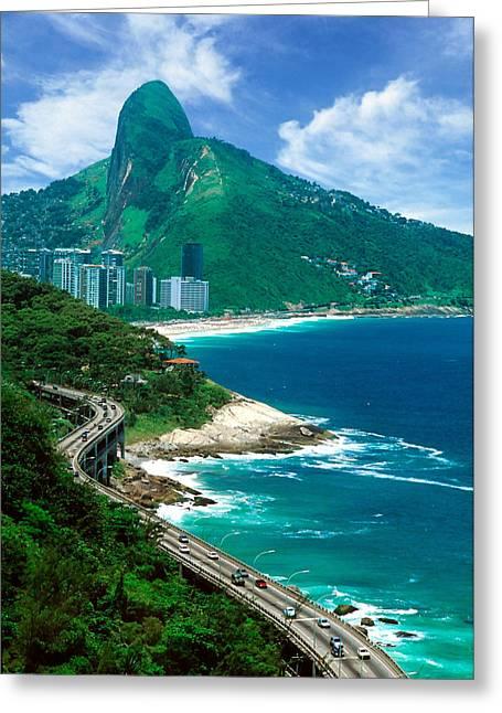 Rio De Janeiro Brazil Greeting Card by Utah Images