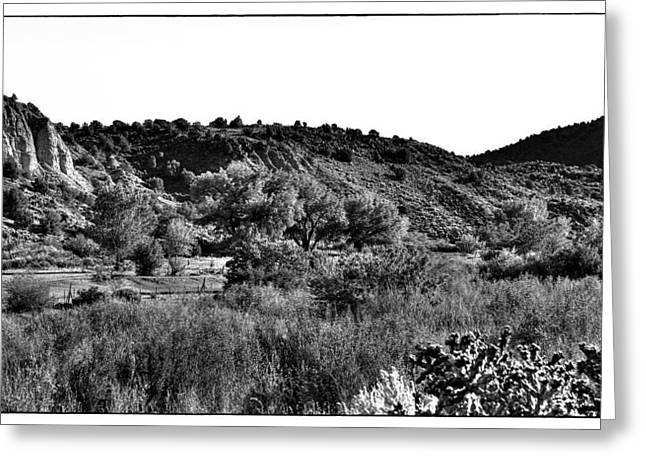 Taos Greeting Cards - Rio Grande River Valley Greeting Card by David Patterson