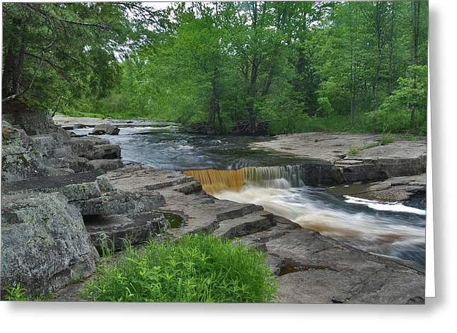Coppery Greeting Cards - River Flow VI Greeting Card by Sean Holmquist