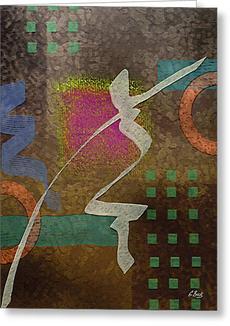 Abstract Earth Tones Greeting Cards - River Run Greeting Card by Gordon Beck