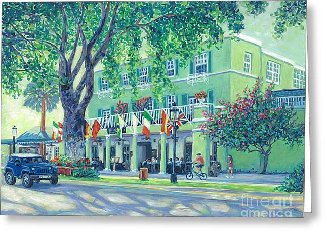 Riverside Hotel 80th Greeting Card by Danielle Perry