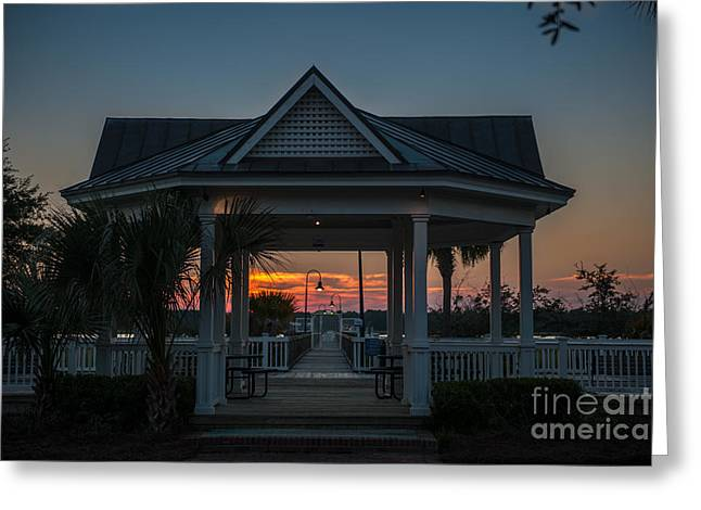 Mt. Pleasant Sc Greeting Cards - Rivertowne Gazebo Greeting Card by Dale Powell