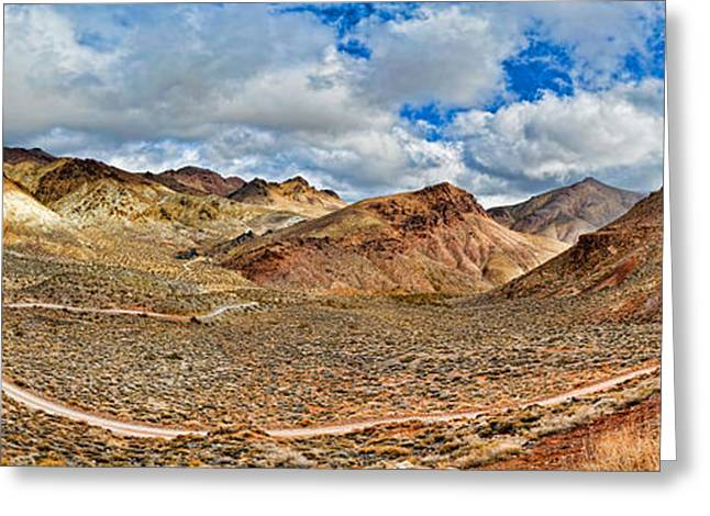 Road Passing Through Landscape, Titus Greeting Card by Panoramic Images