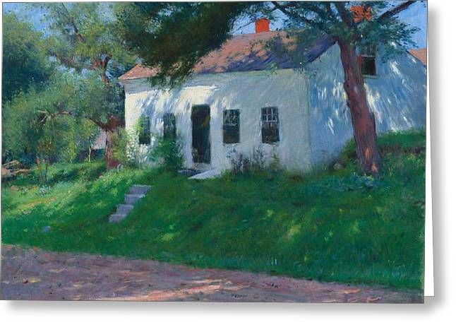 Roadside Cottage Greeting Card by Mountain Dreams