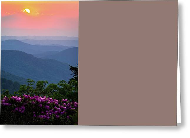 Tn Greeting Cards - Roan Mountain Sunset Greeting Card by Serge Skiba