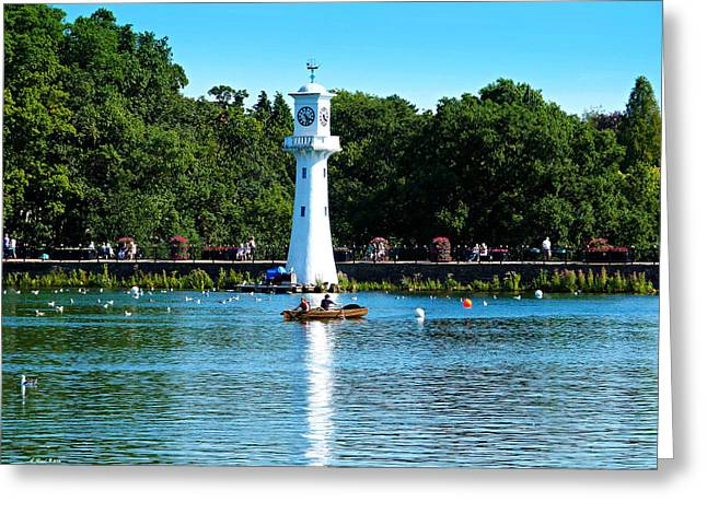 Sitting Ducks Greeting Cards - Roath Park Greeting Card by Andrew Read
