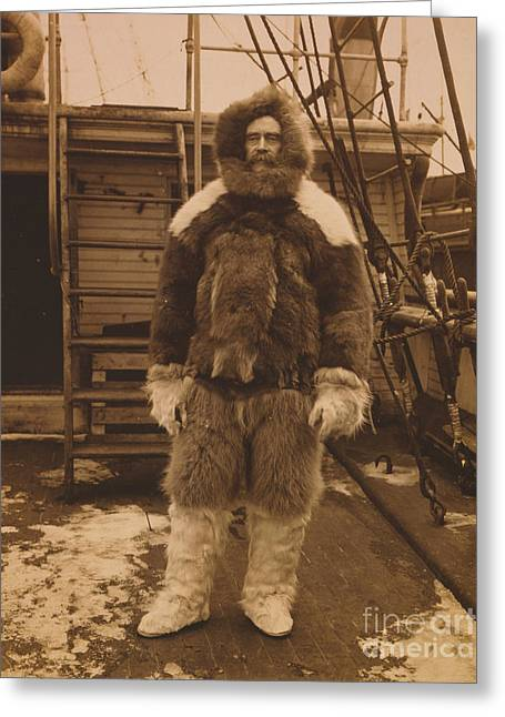 Robert R Greeting Cards - Robert Edwin Peary, American Explorer Greeting Card by Photo Researchers