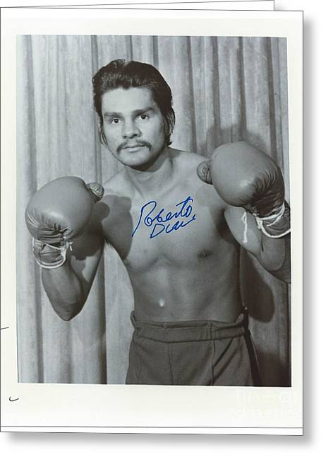 Roberto Greeting Cards - Roberto Duran 2 Greeting Card by Dennis ONeil