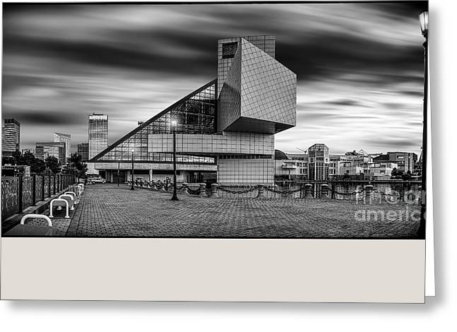 Greeting Cards - Rock and Roll Hall of Fame  Greeting Card by James Dean