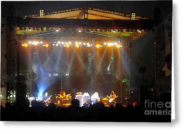 Rock Concerts Digital Greeting Cards - Rock concert Greeting Card by David Lee Thompson