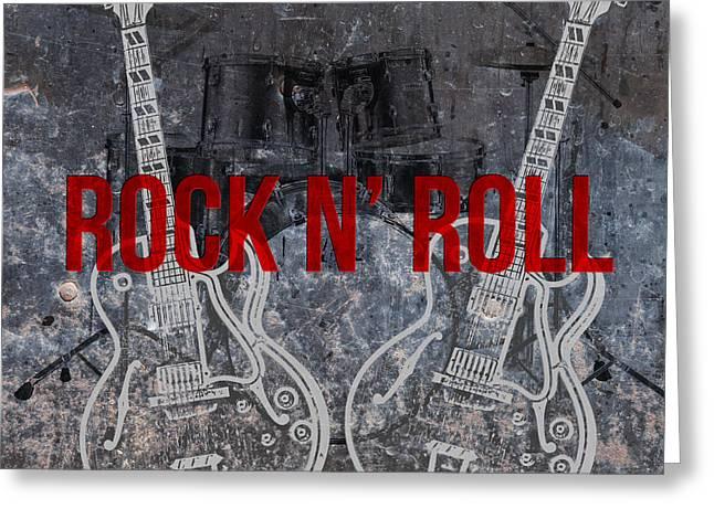 Rock N Roll Greeting Card by Edward Fielding