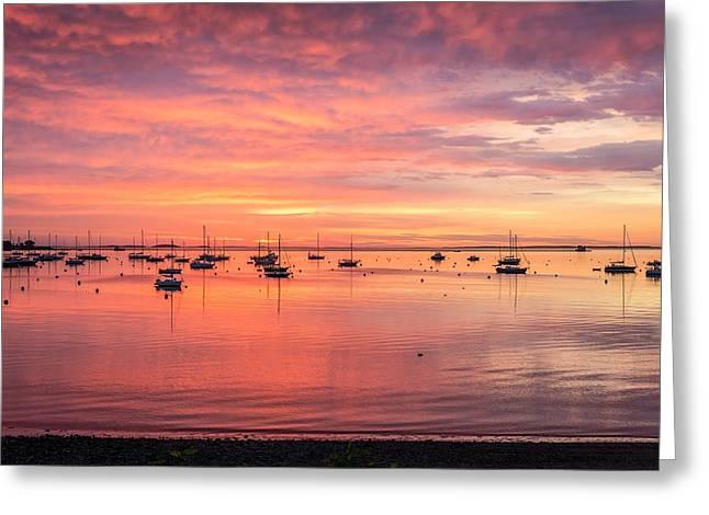 Rockland Harbor Sunrise Greeting Card by Tim Sullivan