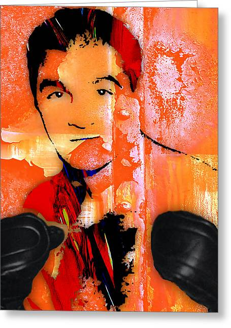 Rocky Marciano Greeting Cards - Rocky Marciano Collection Greeting Card by Marvin Blaine