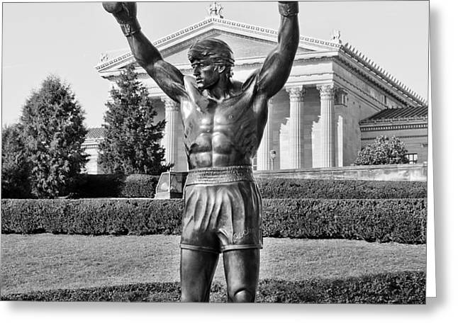 Rocky Statue - Philadelphia Greeting Card by Brendan Reals