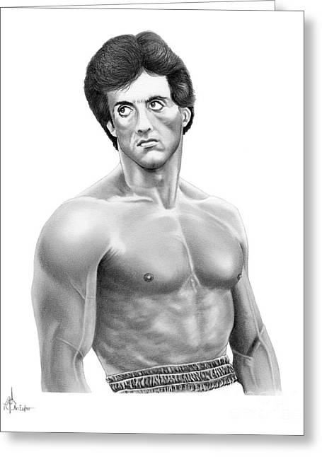 Rocky-sylvester Stallone Greeting Card by Murphy Elliott