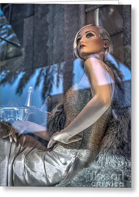 Rodeo Mannequin Beverly Hills Greeting Card by David Zanzinger