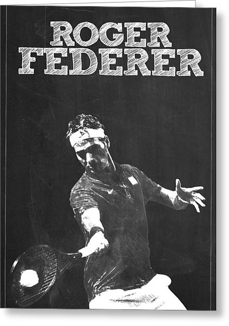 Federer Art Greeting Cards - Roger Federer Greeting Card by Semih Yurdabak