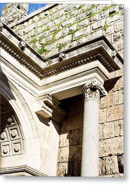 Roman Arch Greeting Card by Tom Gowanlock